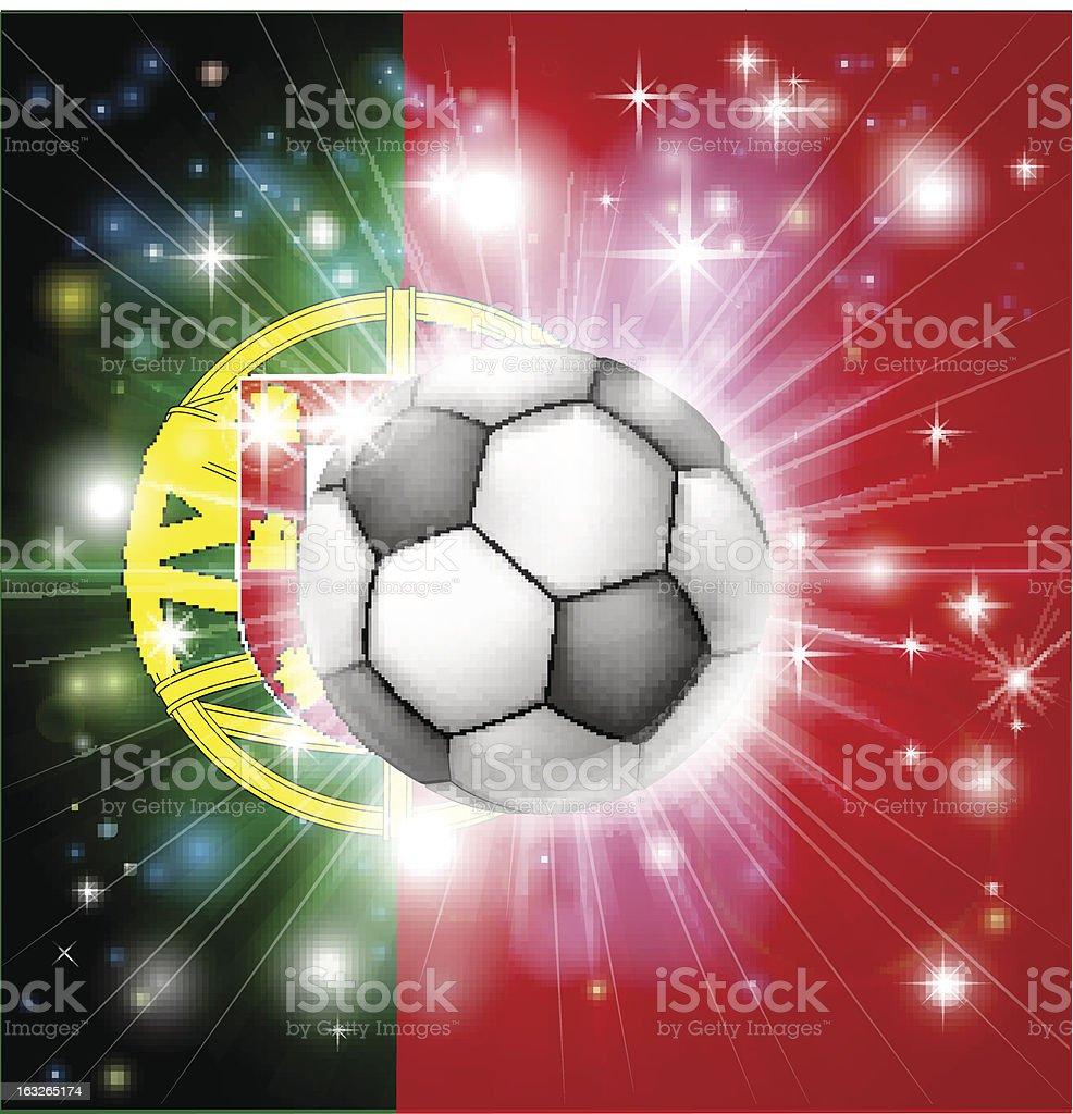 Portugal soccer flag royalty-free stock vector art