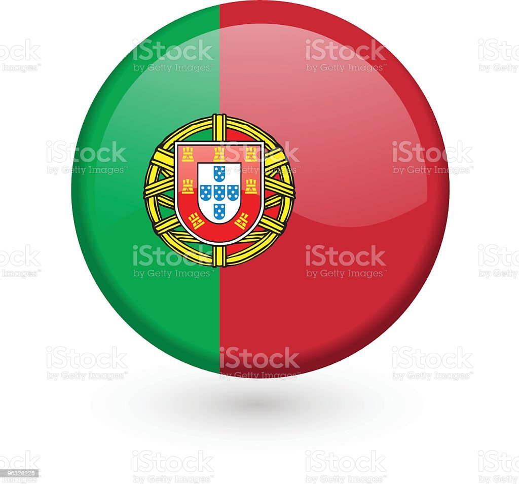 Portuguese flag vector button royalty-free stock vector art