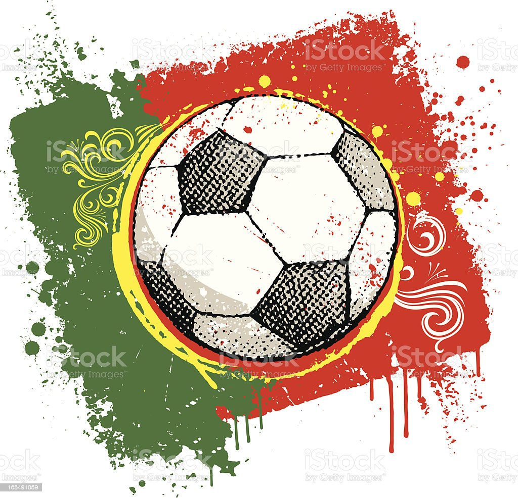 Portuguese football royalty-free stock vector art