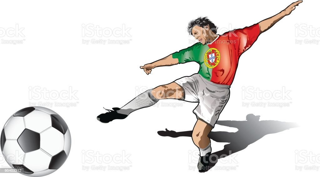 Portuguese soccer player royalty-free stock vector art