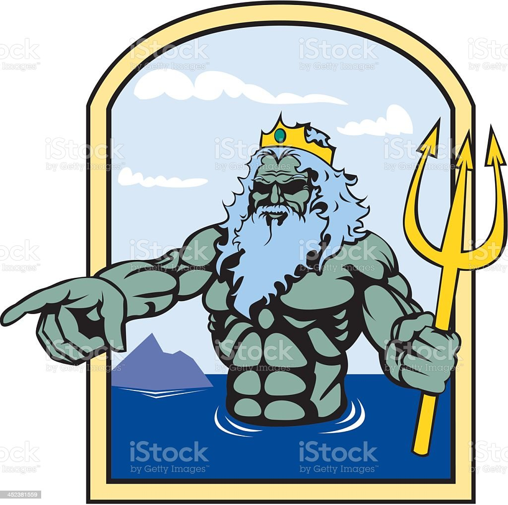 Poseidon royalty-free stock vector art