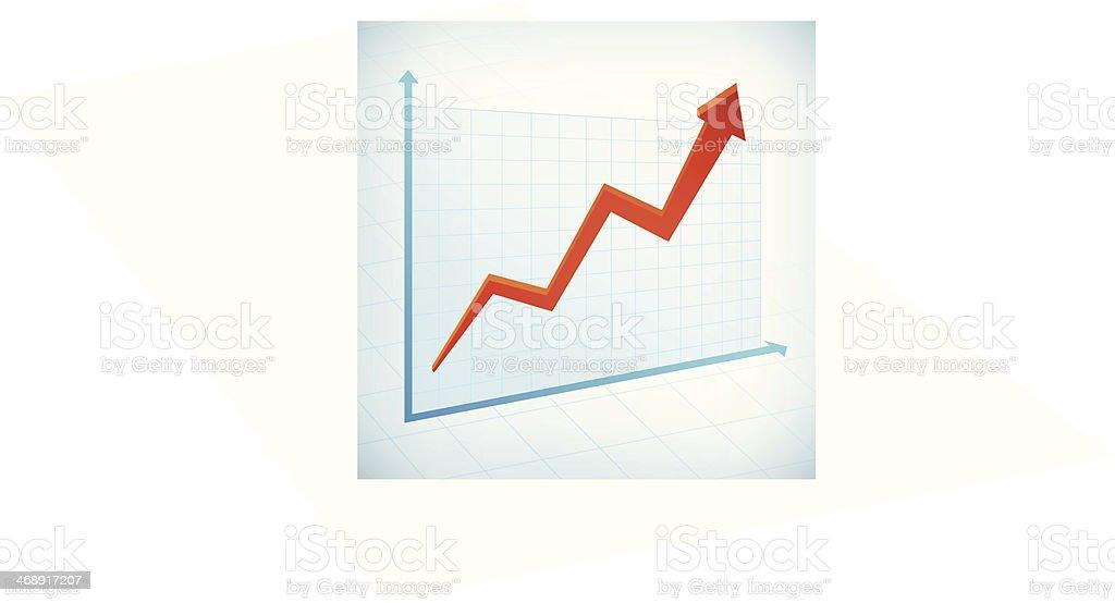 positive business graph arrow vector art illustration