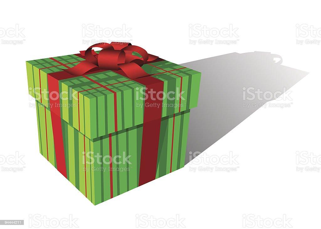 Positive gift box royalty-free stock vector art