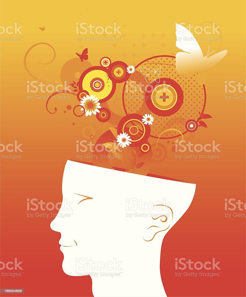 positive mind royalty-free stock vector art