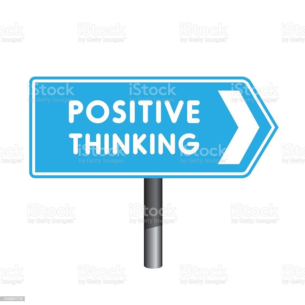 Positive thinking crossroad sign vector art illustration