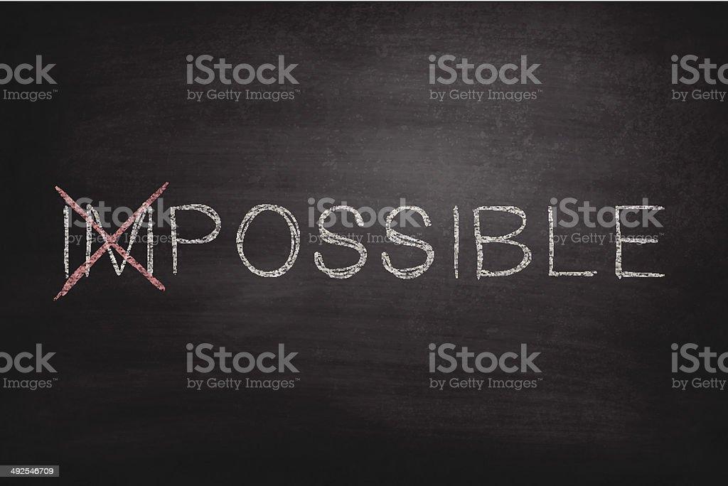 Possible on Blackboard - Chalkboard vector art illustration
