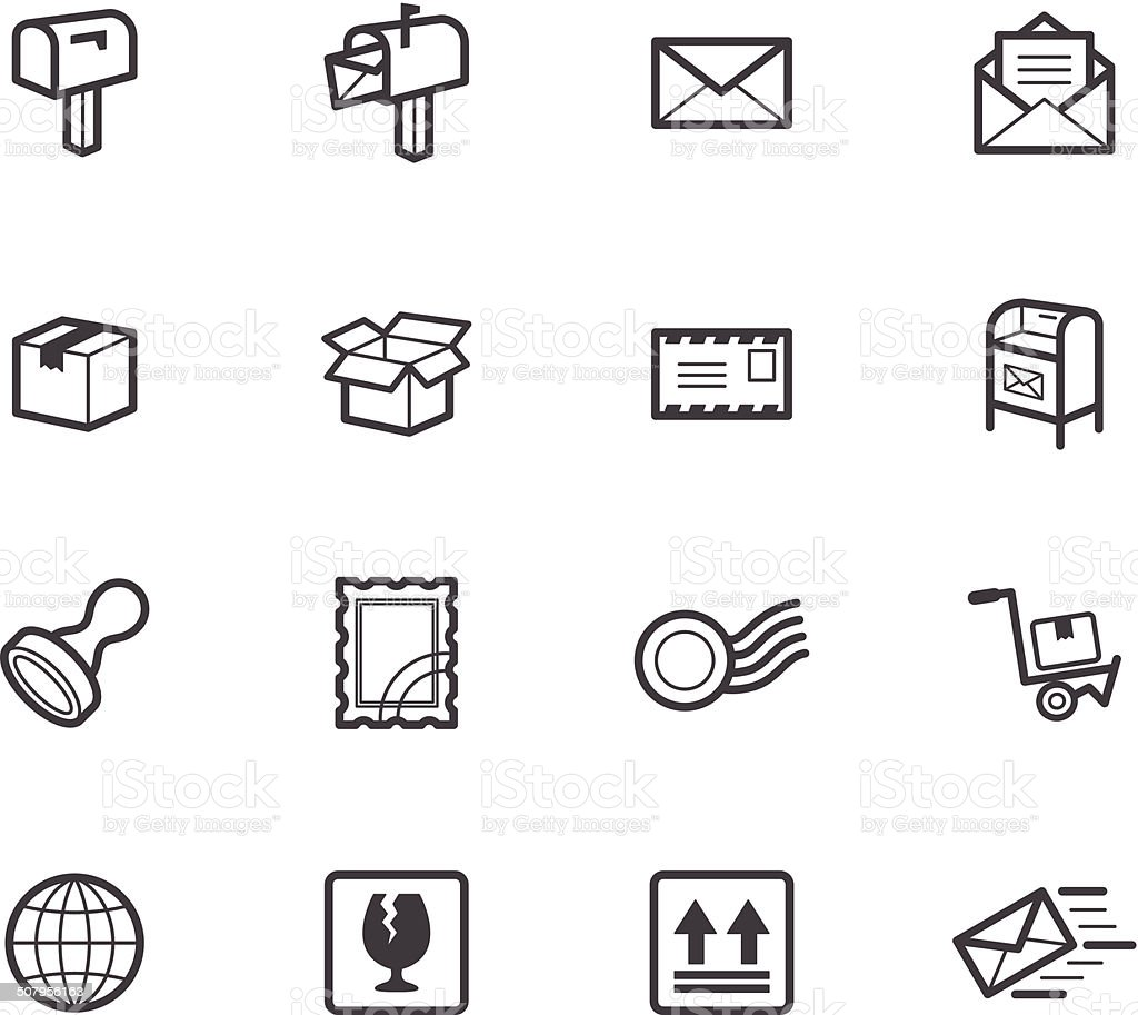 post element vector black icon set on white background vector art illustration