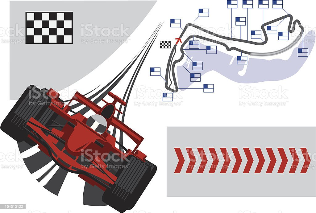 Poster Monaco Formula 1 Grand Prix royalty-free stock vector art