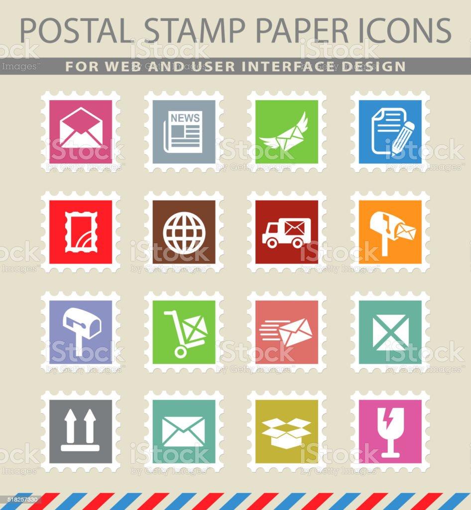 post service icon set vector art illustration