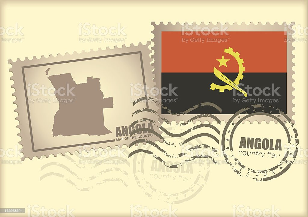 postage stamp Angola royalty-free stock vector art