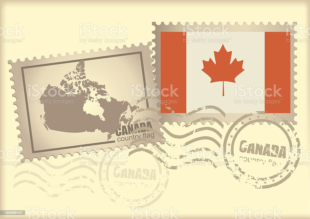 postage stamp canada royalty-free stock vector art
