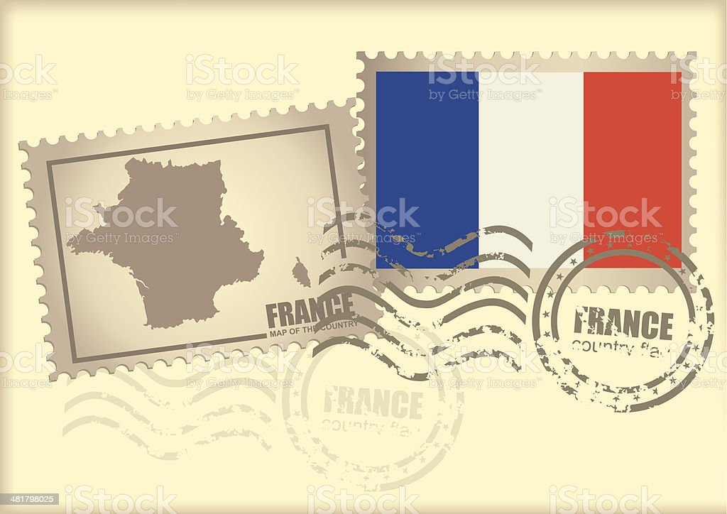 postage stamp France royalty-free stock vector art