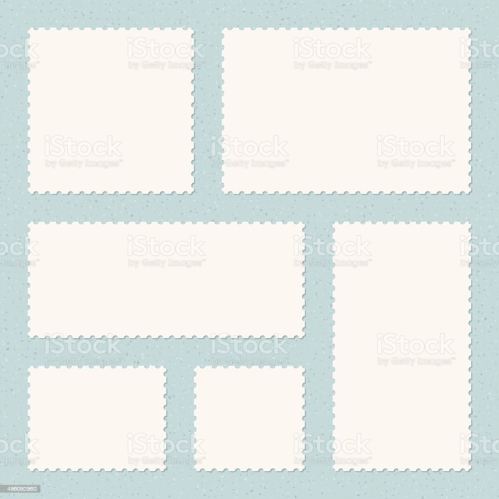 Postage Stamps Templates vector art illustration