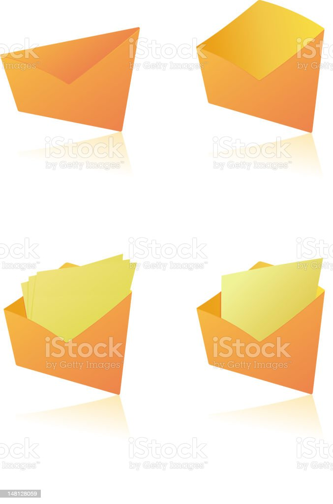 postal envelopes royalty-free stock vector art