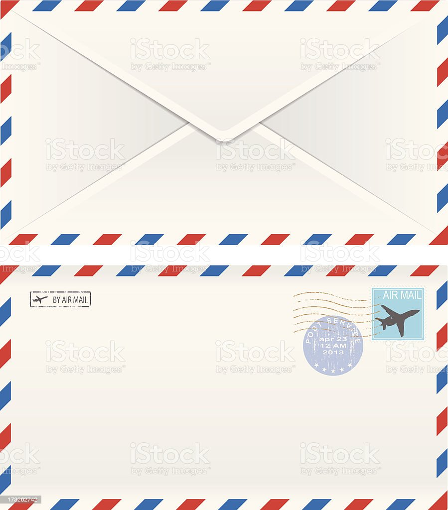 postal envelopes vector art illustration
