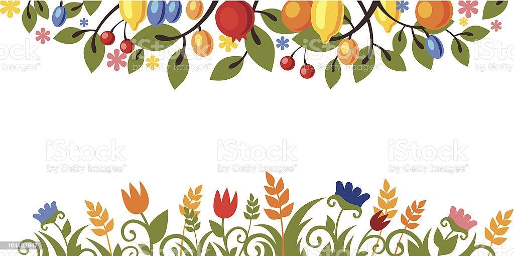 postal of Thanksgiving royalty-free stock vector art
