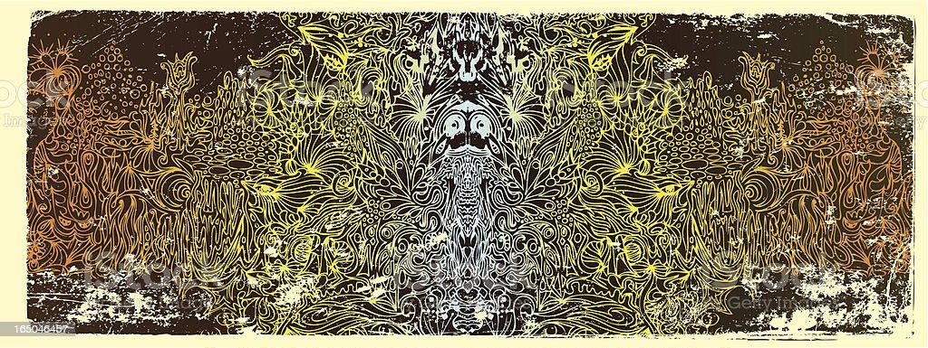Postkarte von eine andere dimension Lizenzfreies vektor illustration