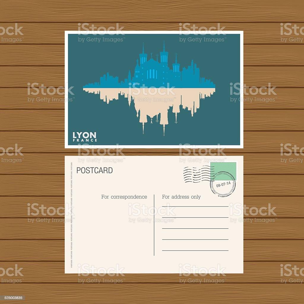 postcard. Vector illustration vector art illustration