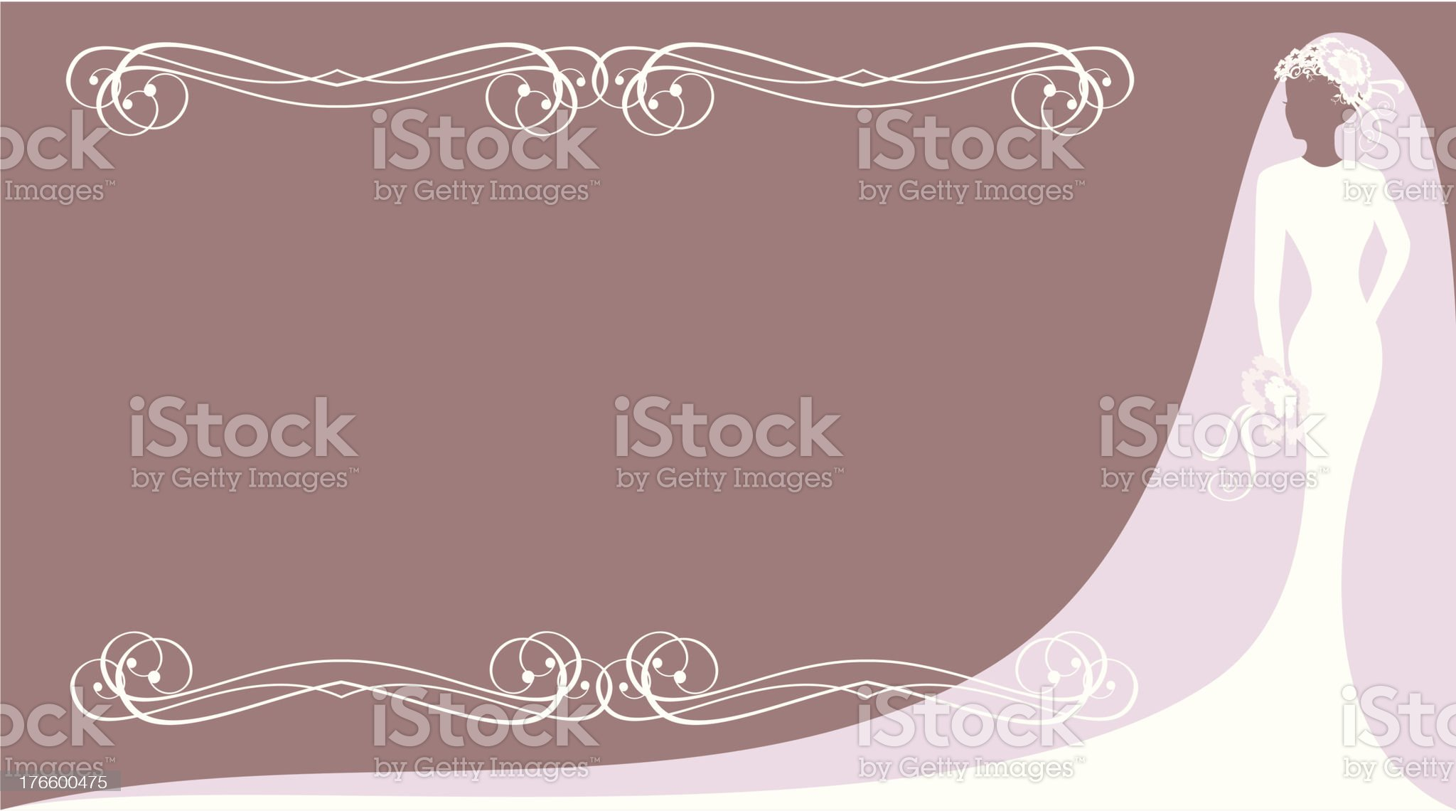 postcard with bride royalty-free stock vector art