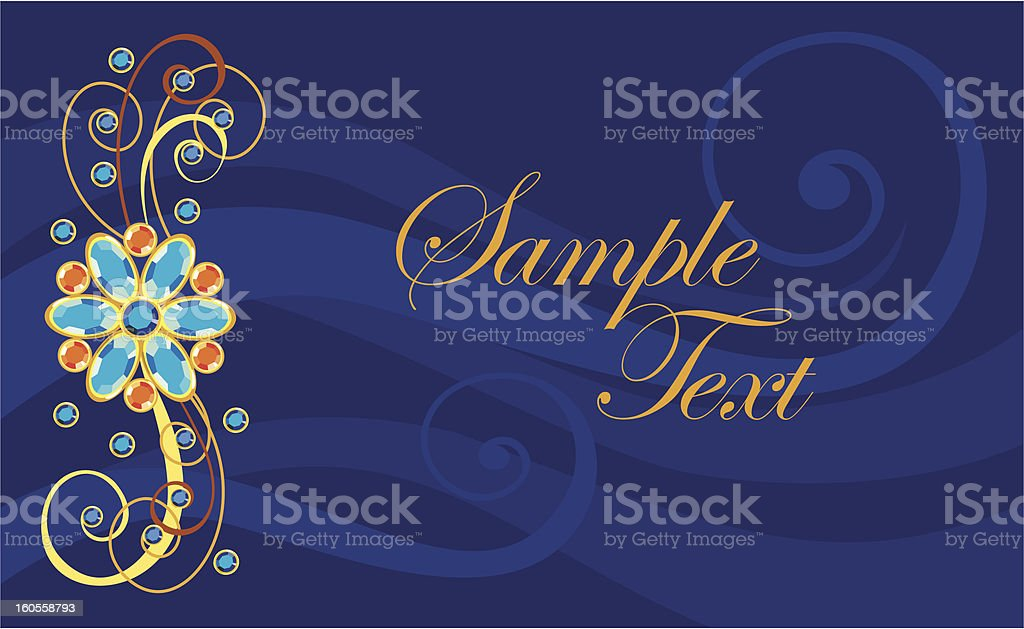 postcard with jewel royalty-free stock photo