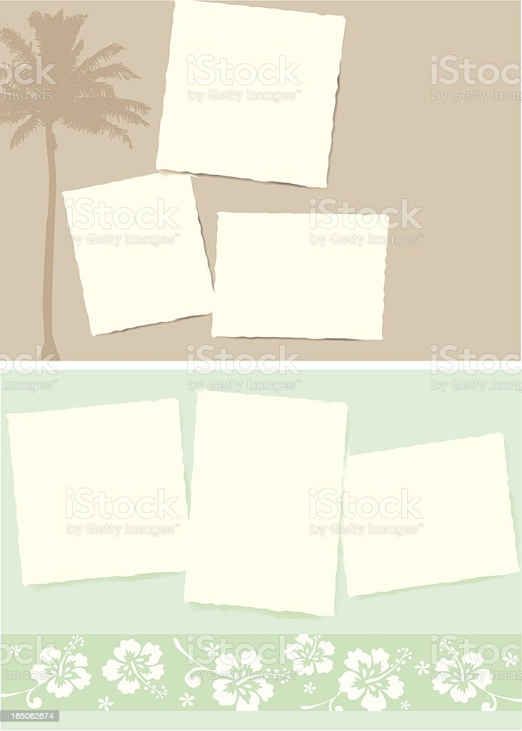 Postcards from Paradise royalty-free stock vector art