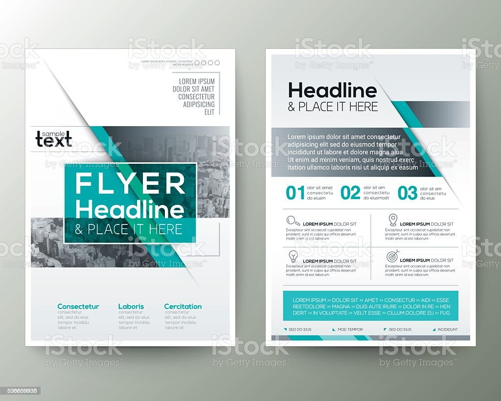 Poster Brochure Flyer design Layout vector template royalty-free stock vector art