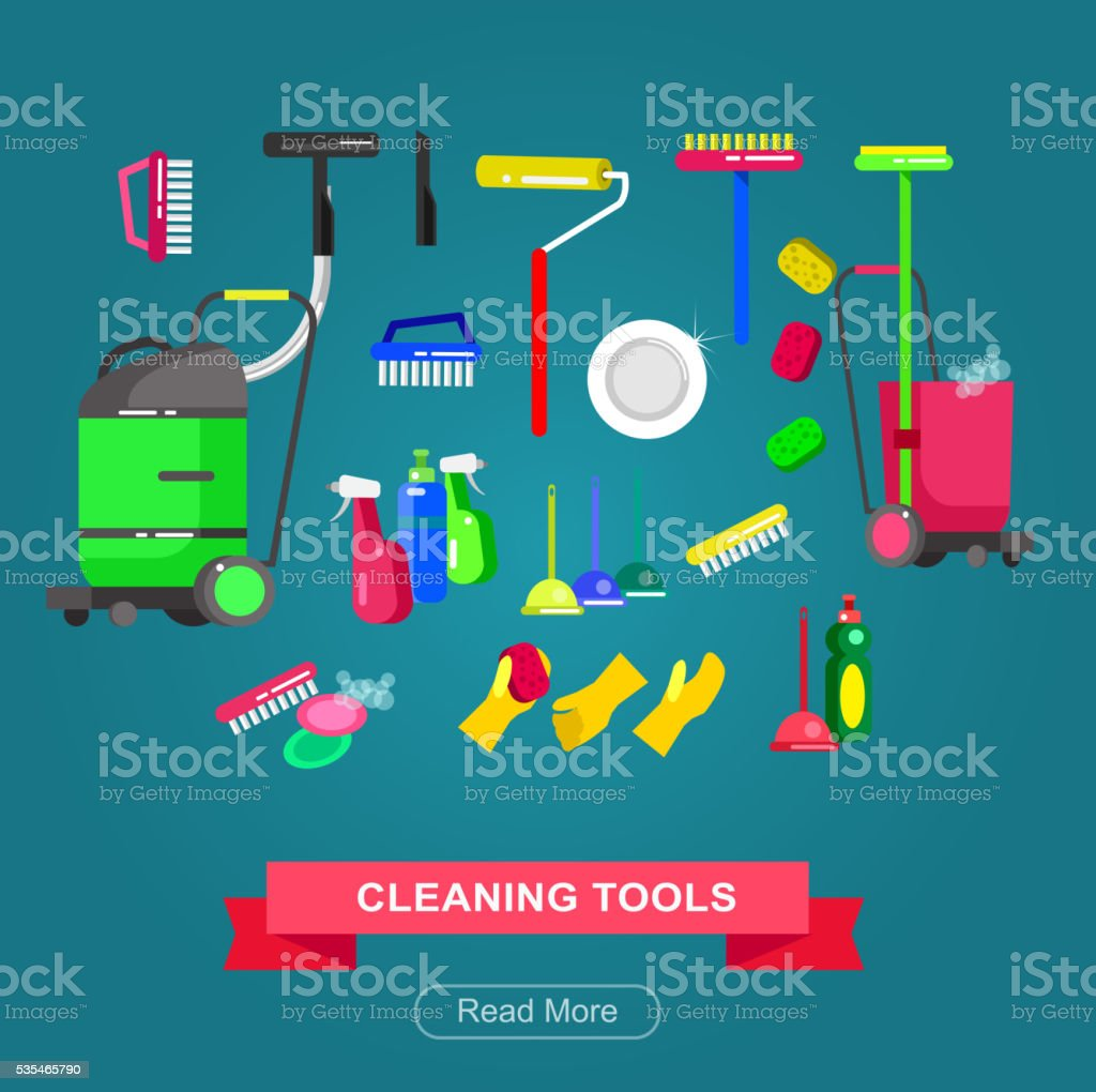 Poster design for cleaning service vector art illustration