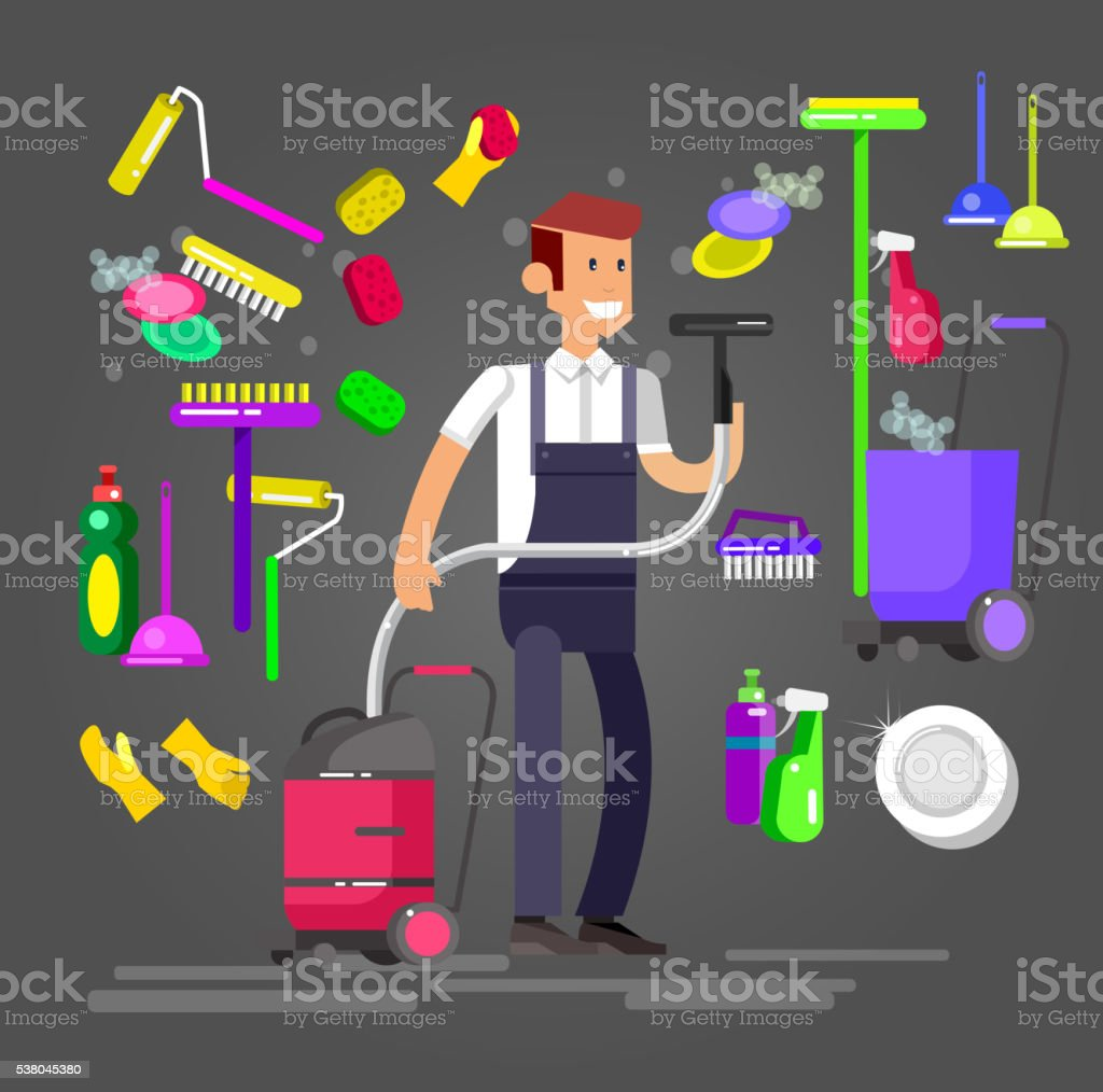 Poster design service - Poster Design For Cleaning Service Royalty Free Stock Vector Art
