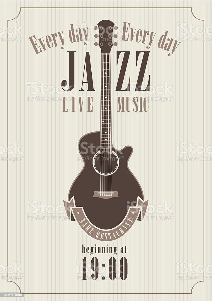 Poster for a jazz vector art illustration