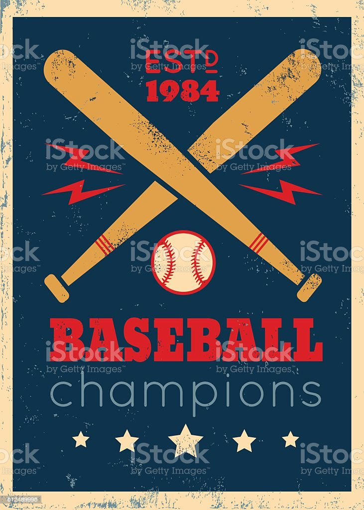 poster for baseball vector art illustration