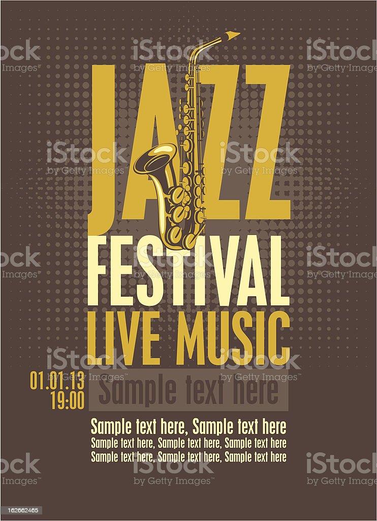 Poster for jazz festival vector art illustration