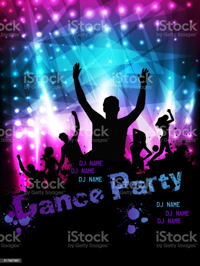 Poster for party template vector art illustration
