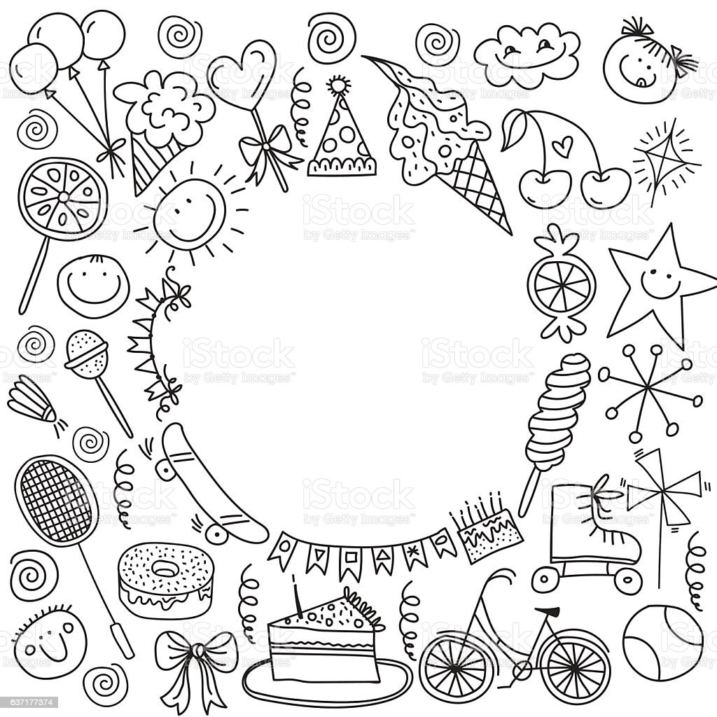 Poster for the birthday greetings. royalty-free stock vector art