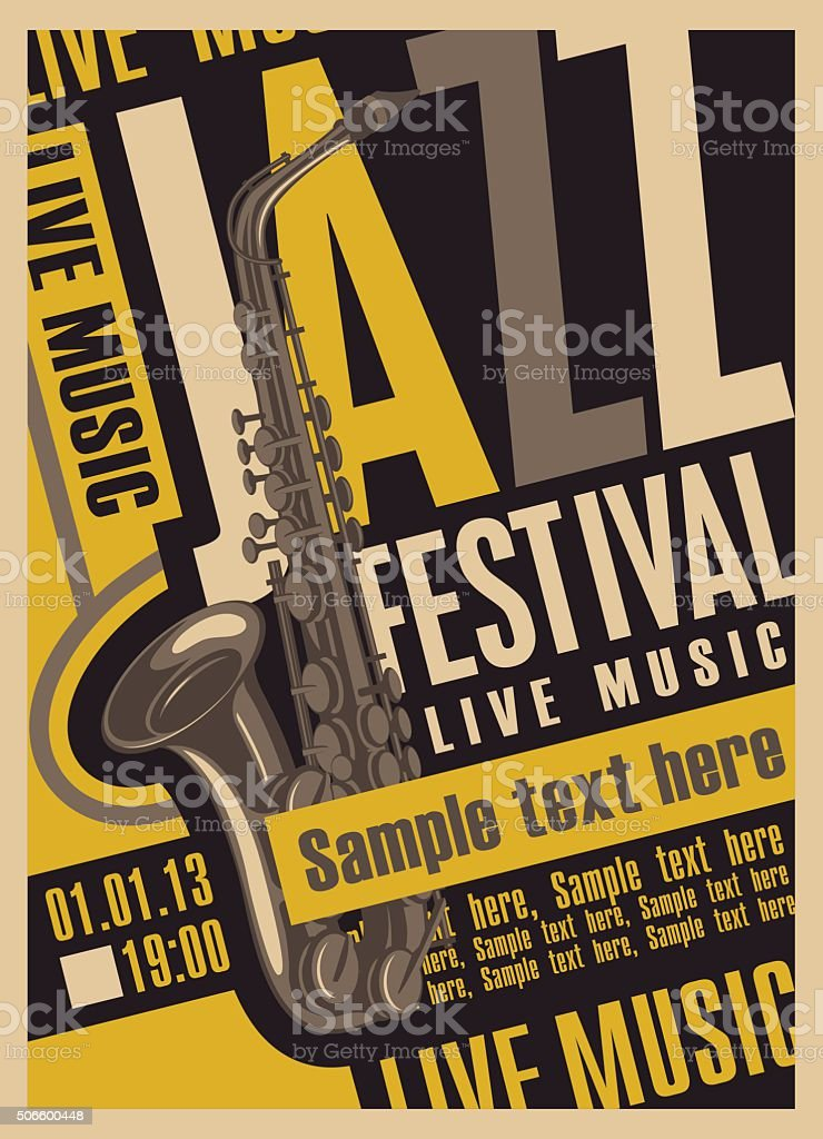 poster for the jazz festival vector art illustration
