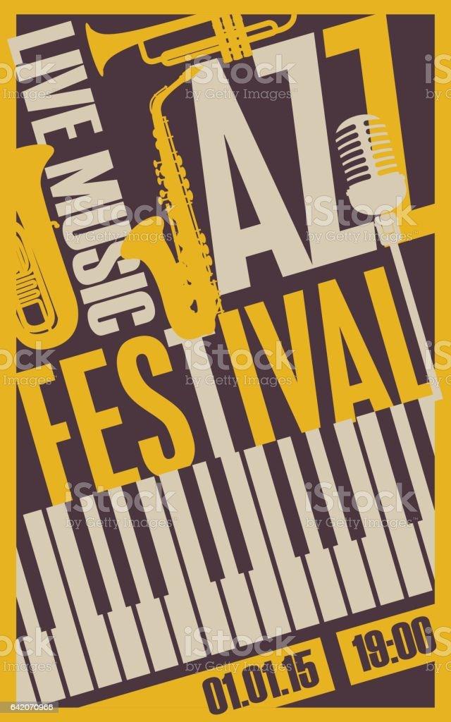poster for the jazz festival vector art illustration