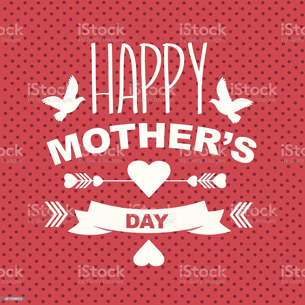 Poster Happy mother's day. vector art illustration