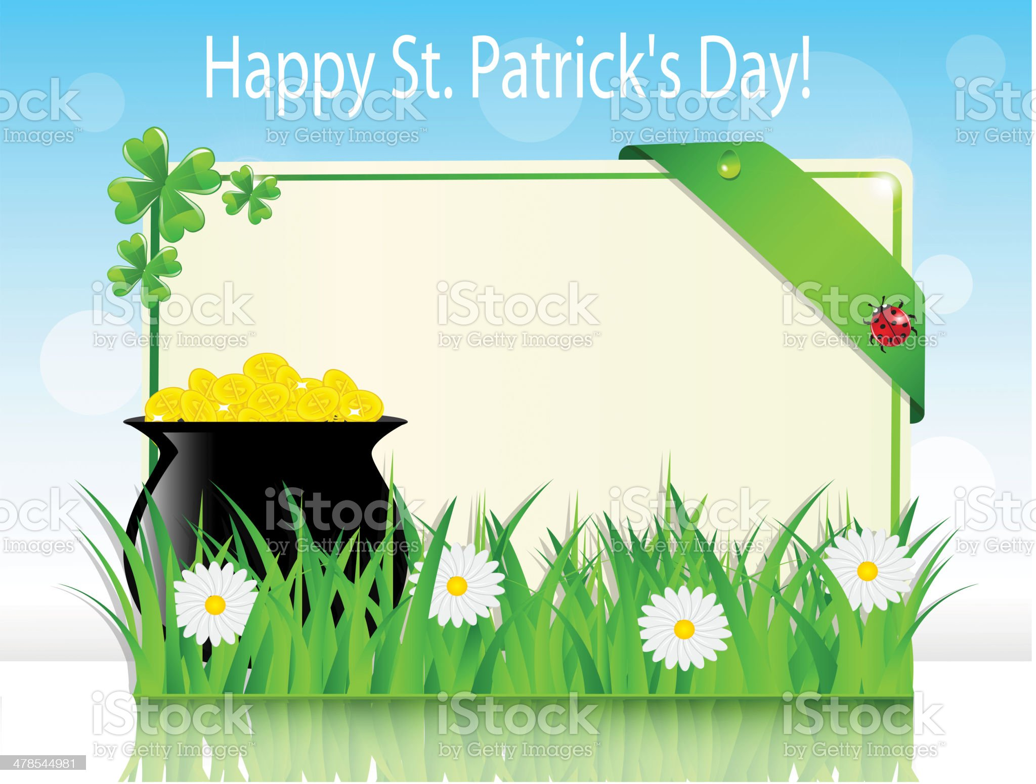 Poster holiday St. Patrick's Day royalty-free stock vector art