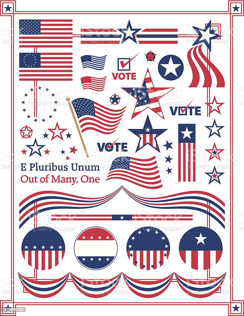 Poster illustration of American centered patriotic themes vector art illustration