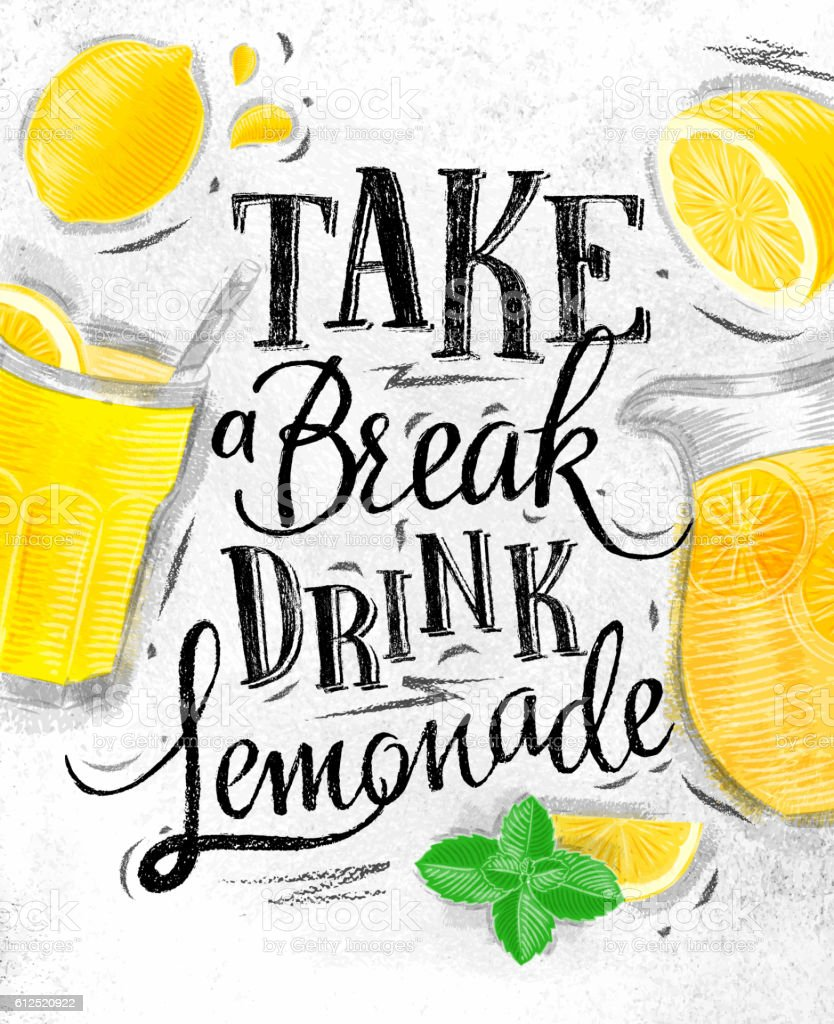 Poster Lemonade Coal stock vector art 612520922 | iStock