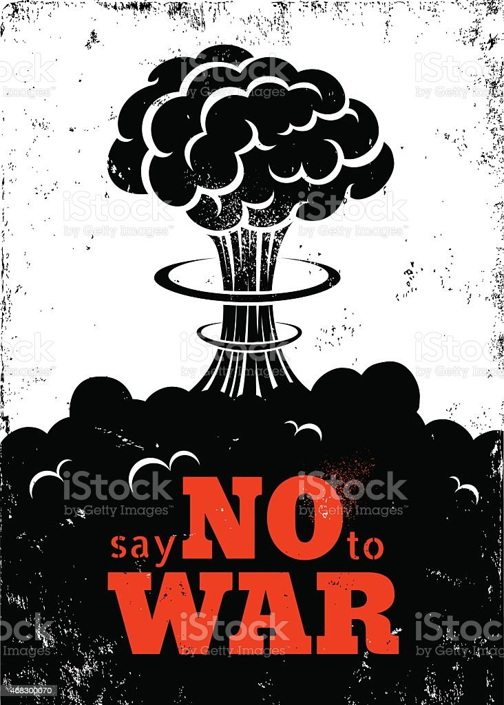 Poster no war vector art illustration