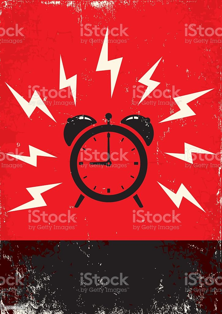 poster of alarm clock vector art illustration