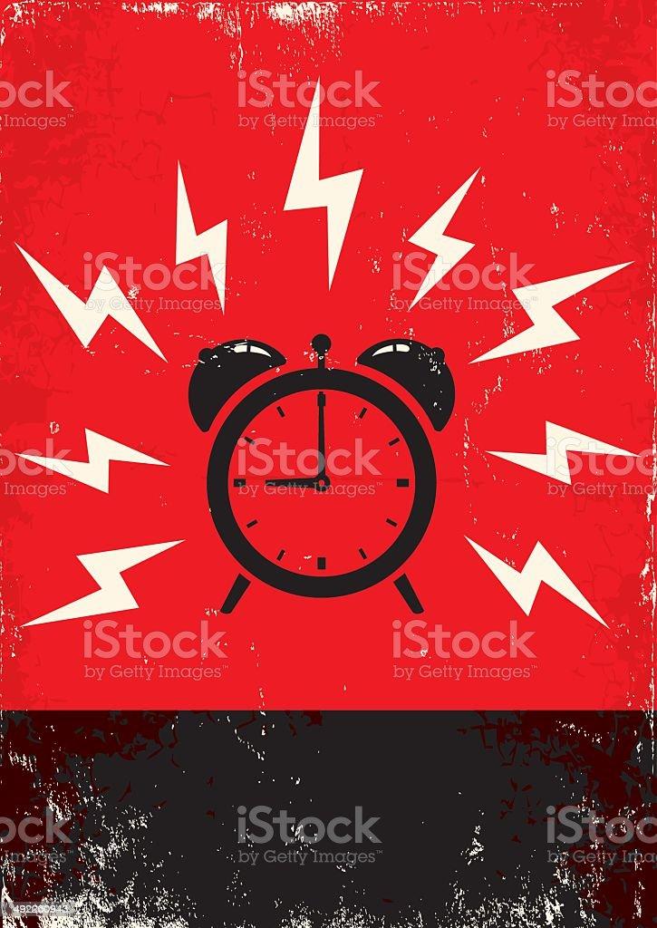 poster of alarm clock vector art illustration