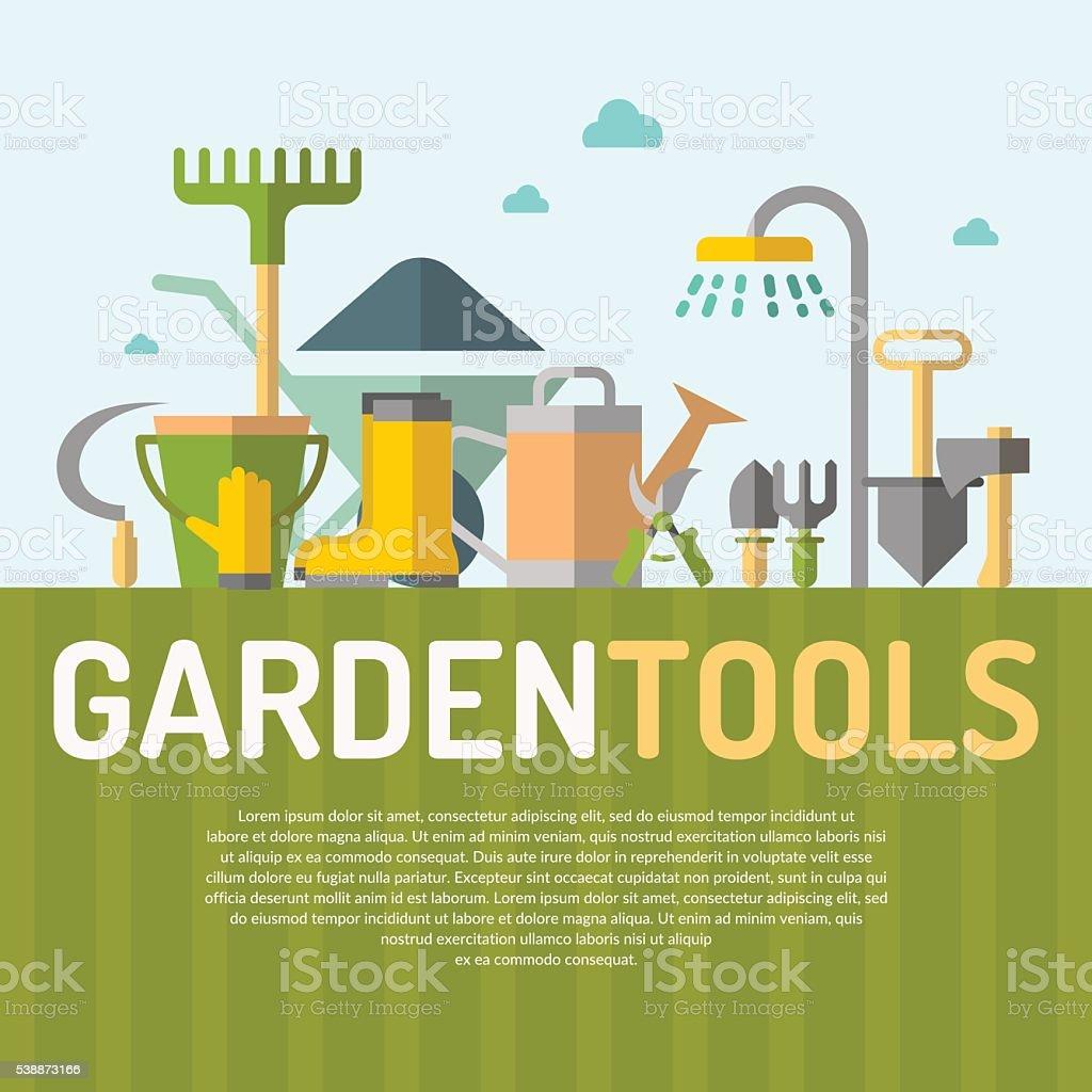 Poster of gardening. vector art illustration