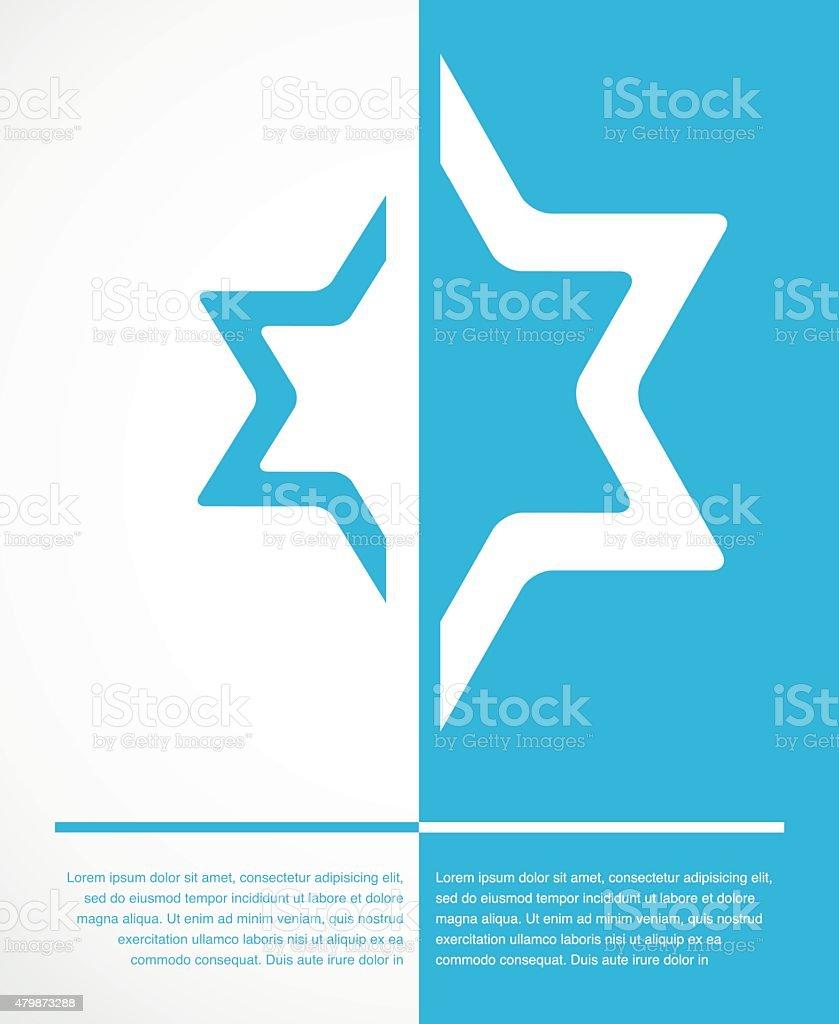 poster of jewish sign of david star vector art illustration