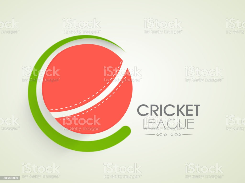 Poster or banner design for Cricket League. vector art illustration