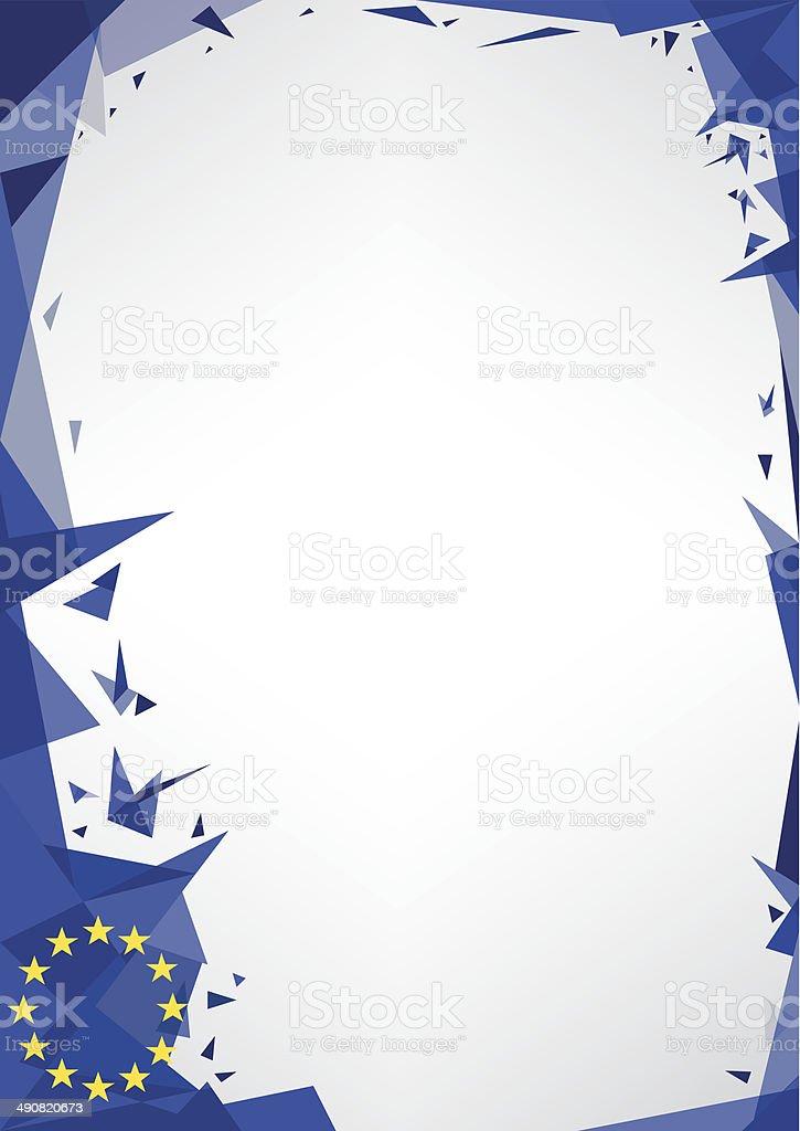 Poster origami of europe vector art illustration