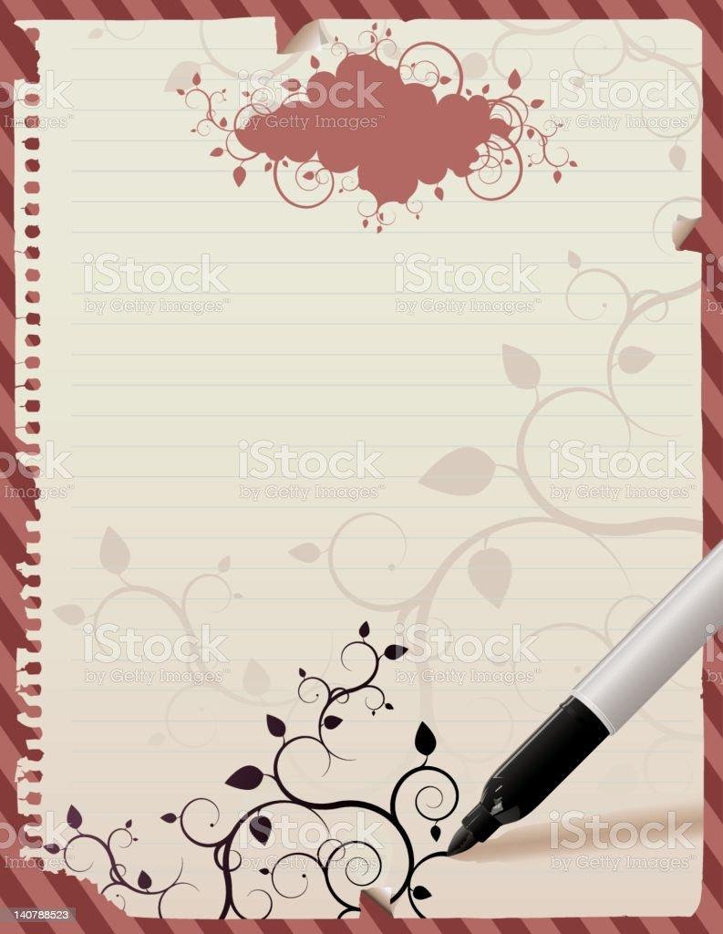 Poster Sheet letter notebook royalty-free stock vector art