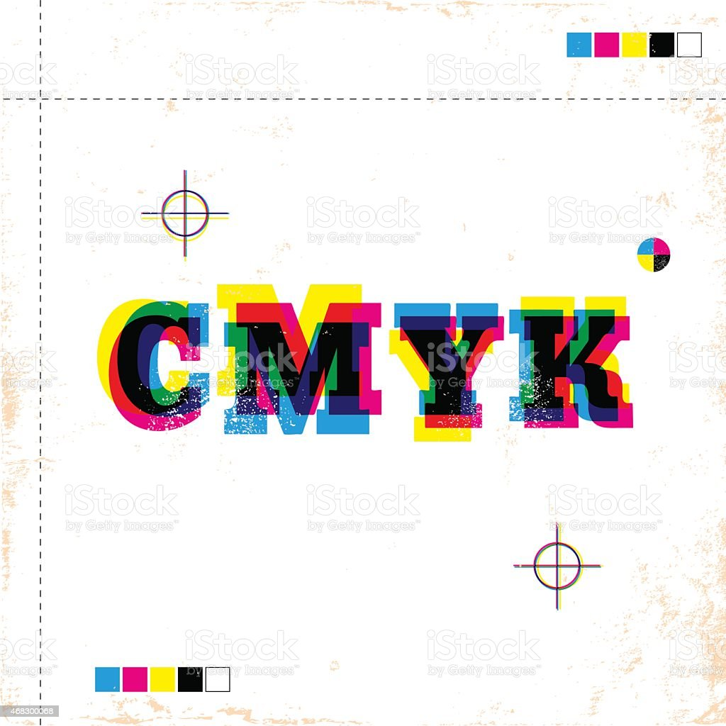 CMYK poster vector art illustration