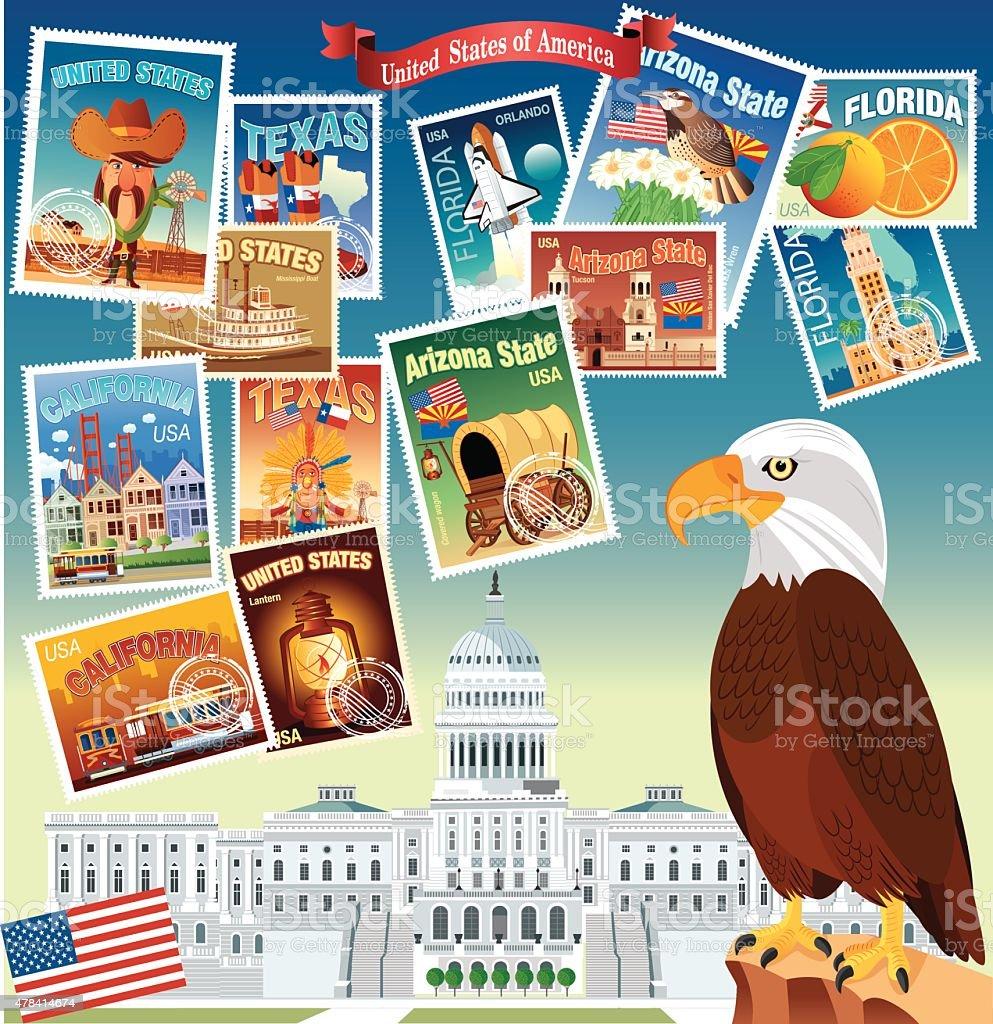 USA Poster vector art illustration