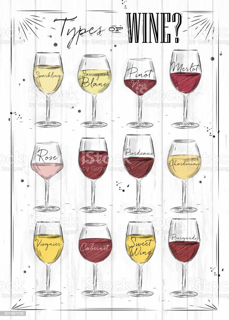 Poster wine vector art illustration